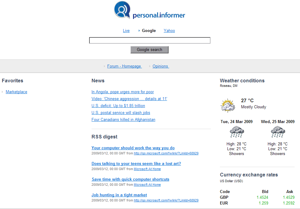 Click to view Personal Informer 0.9.91.0 screenshot