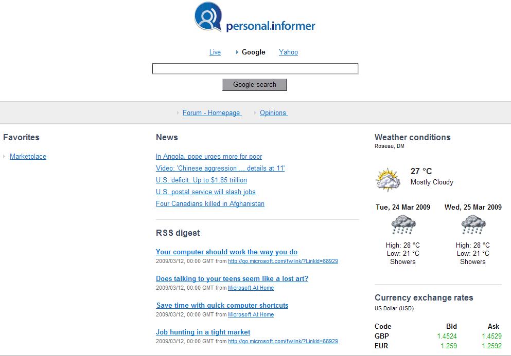 Personal Informer